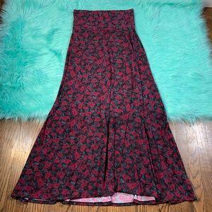 Lularoe Floral Roses Prints Maxi Long Skirt size S